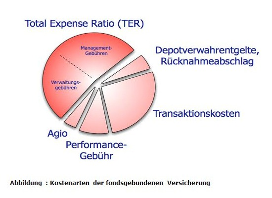 Kostenarten der fondsgebundenen Versicherung